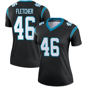 Women's Nike Carolina Panthers Thomas Fletcher Black Jersey - Legend