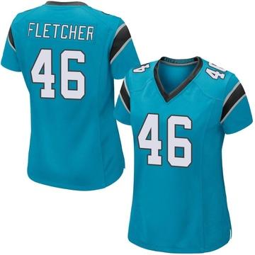 Women's Nike Carolina Panthers Thomas Fletcher Blue Alternate Jersey - Game
