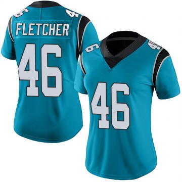 Women's Nike Carolina Panthers Thomas Fletcher Blue Alternate Vapor Untouchable Jersey - Limited