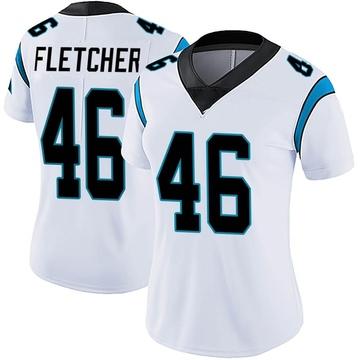 Women's Nike Carolina Panthers Thomas Fletcher White Vapor Untouchable Jersey - Limited
