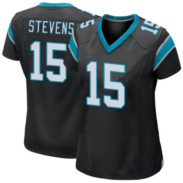 Women's Nike Carolina Panthers Tommy Stevens Black Team Color Jersey - Game
