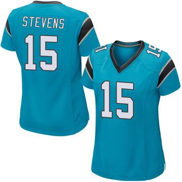 Women's Nike Carolina Panthers Tommy Stevens Blue Alternate Jersey - Game