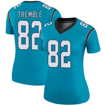 Women's Nike Carolina Panthers Tommy Tremble Blue Color Rush Jersey - Legend