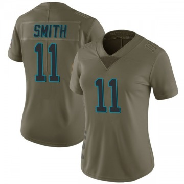 Women's Nike Carolina Panthers Torrey Smith Green 2017 Salute to Service Jersey - Limited