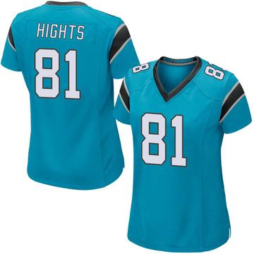 Women's Nike Carolina Panthers TreVontae Hights Blue Alternate Jersey - Game