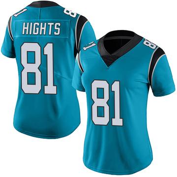 Women's Nike Carolina Panthers TreVontae Hights Blue Alternate Vapor Untouchable Jersey - Limited
