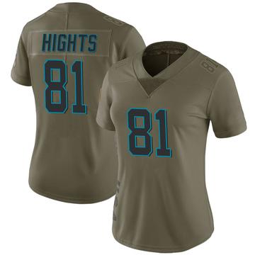 Women's Nike Carolina Panthers TreVontae Hights Green 2017 Salute to Service Jersey - Limited