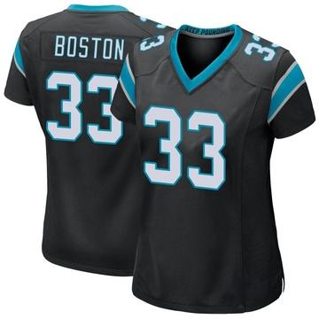 Women's Nike Carolina Panthers Tre Boston Black Team Color Jersey - Game