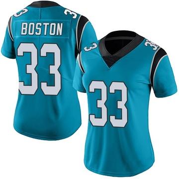 Women's Nike Carolina Panthers Tre Boston Blue Alternate Vapor Untouchable Jersey - Limited