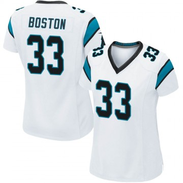Women's Nike Carolina Panthers Tre Boston White Jersey - Game