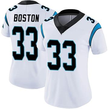 Women's Nike Carolina Panthers Tre Boston White Vapor Untouchable Jersey - Limited