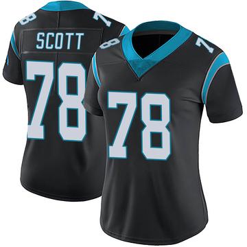 Women's Nike Carolina Panthers Trent Scott Black Team Color Vapor Untouchable Jersey - Limited