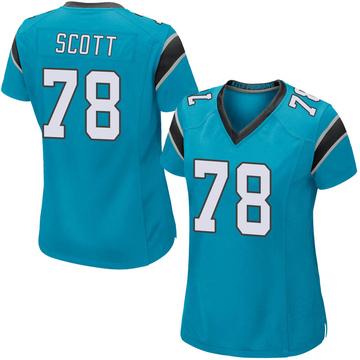 Women's Nike Carolina Panthers Trent Scott Blue Alternate Jersey - Game