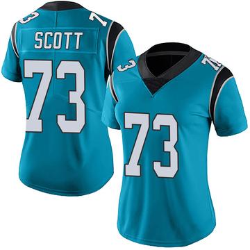 Women's Nike Carolina Panthers Trent Scott Blue Alternate Vapor Untouchable Jersey - Limited