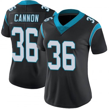 Women's Nike Carolina Panthers Trenton Cannon Black Team Color Vapor Untouchable Jersey - Limited