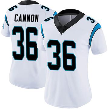 Women's Nike Carolina Panthers Trenton Cannon White Vapor Untouchable Jersey - Limited