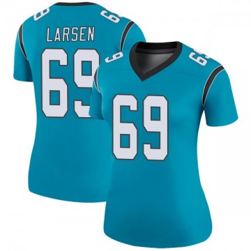 Women's Nike Carolina Panthers Tyler Larsen Blue Color Rush Jersey - Legend