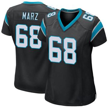 Women's Nike Carolina Panthers Tyler Marz Black Team Color Jersey - Game