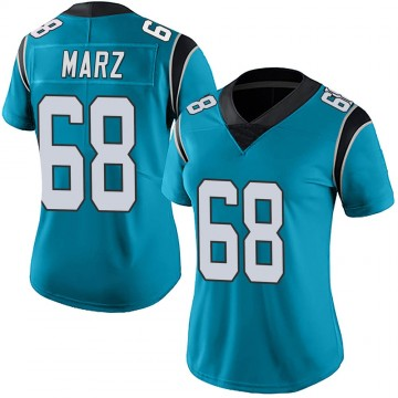 Women's Nike Carolina Panthers Tyler Marz Blue Alternate Vapor Untouchable Jersey - Limited