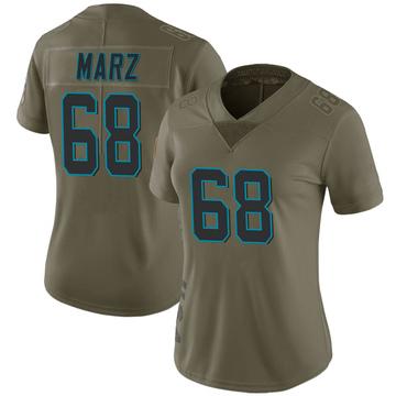 Women's Nike Carolina Panthers Tyler Marz Green 2017 Salute to Service Jersey - Limited