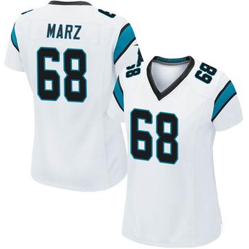 Women's Nike Carolina Panthers Tyler Marz White Jersey - Game