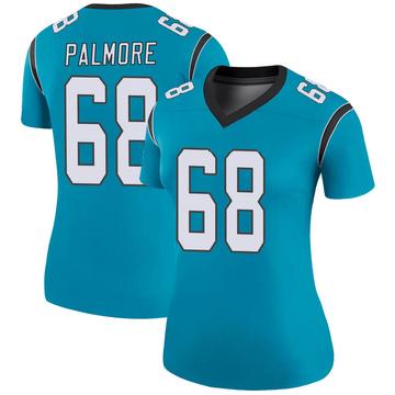 Women's Nike Carolina Panthers Walter Palmore Blue Color Rush Jersey - Legend