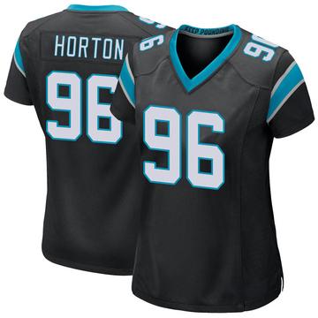Women's Nike Carolina Panthers Wes Horton Black Team Color Jersey - Game