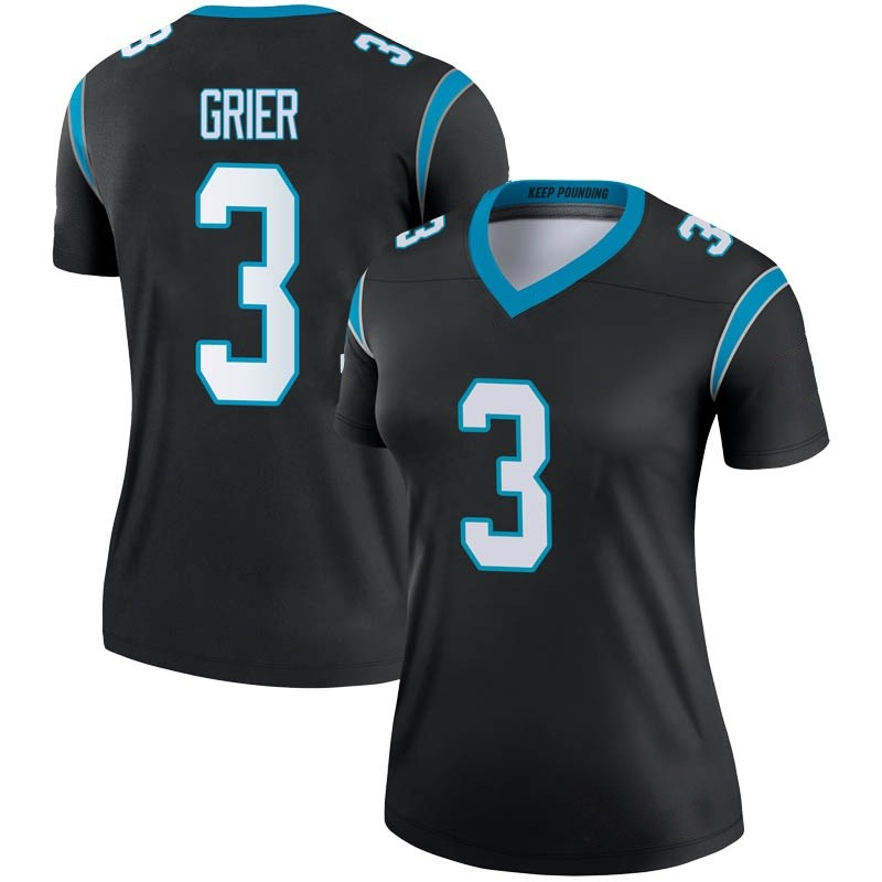 7867988c Women's Nike Carolina Panthers Will Grier Black Jersey - Legend