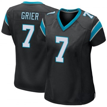 Women's Nike Carolina Panthers Will Grier Black Team Color Jersey - Game