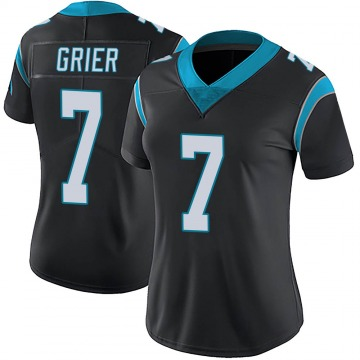 Women's Nike Carolina Panthers Will Grier Black Team Color Vapor Untouchable Jersey - Limited