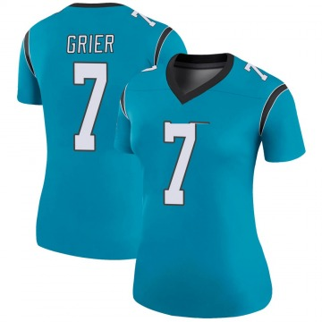 Women's Nike Carolina Panthers Will Grier Blue Color Rush Jersey - Legend