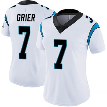 Women's Nike Carolina Panthers Will Grier White Vapor Untouchable Jersey - Limited