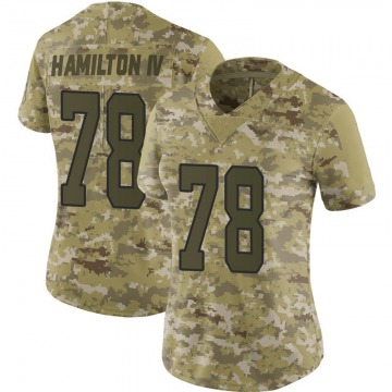 Women's Nike Carolina Panthers Woodrow Hamilton IV Camo 2018 Salute to Service Jersey - Limited