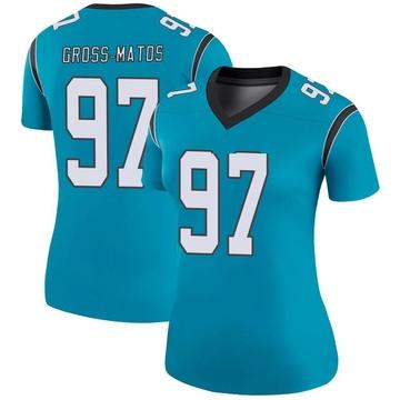 Women's Nike Carolina Panthers Yetur Gross-Matos Blue Color Rush Jersey - Legend