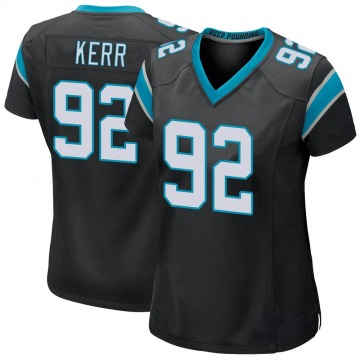 Women's Nike Carolina Panthers Zach Kerr Black Team Color Jersey - Game