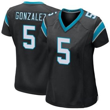 Women's Nike Carolina Panthers Zane Gonzalez Black Team Color Jersey - Game