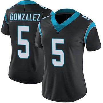 Women's Nike Carolina Panthers Zane Gonzalez Black Team Color Vapor Untouchable Jersey - Limited