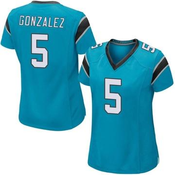 Women's Nike Carolina Panthers Zane Gonzalez Blue Alternate Jersey - Game