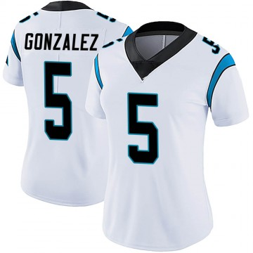 Women's Nike Carolina Panthers Zane Gonzalez White Vapor Untouchable Jersey - Limited