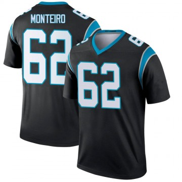 Youth Nike Carolina Panthers Aaron Monteiro Black Jersey - Legend