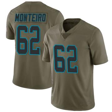 Youth Nike Carolina Panthers Aaron Monteiro Green 2017 Salute to Service Jersey - Limited