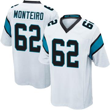 Youth Nike Carolina Panthers Aaron Monteiro White Jersey - Game