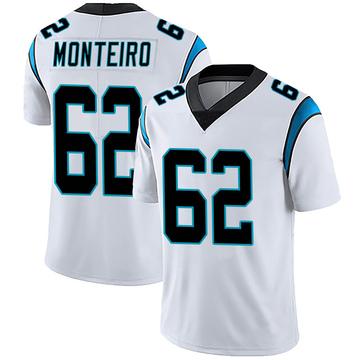 Youth Nike Carolina Panthers Aaron Monteiro White Vapor Untouchable Jersey - Limited