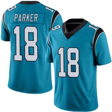 Youth Nike Carolina Panthers Aaron Parker Blue Alternate Vapor Untouchable Jersey - Limited