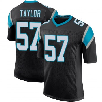 Youth Nike Carolina Panthers Adarius Taylor Black Team Color 100th Vapor Untouchable Jersey - Limited