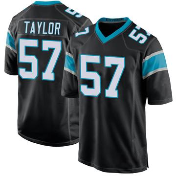 Youth Nike Carolina Panthers Adarius Taylor Black Team Color Jersey - Game
