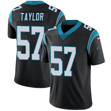 Youth Nike Carolina Panthers Adarius Taylor Black Team Color Vapor Untouchable Jersey - Limited