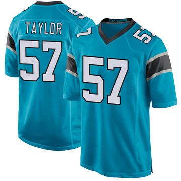 Youth Nike Carolina Panthers Adarius Taylor Blue Alternate Jersey - Game