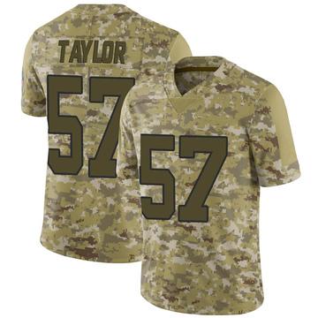 Youth Nike Carolina Panthers Adarius Taylor Camo 2018 Salute to Service Jersey - Limited