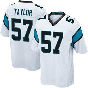 Youth Nike Carolina Panthers Adarius Taylor White Jersey - Game